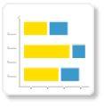 stacked horizontal bar chart