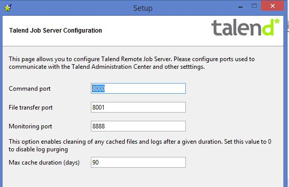 Talend enterprise studio for di installation using for Job serveur