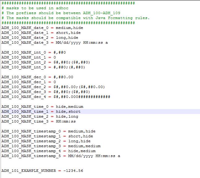 Date Format Customization in Jaspersoft Adhoc View